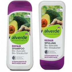 Shampoing + Après shampoing Réparateur- cheveux abimés et cassants- Alverde