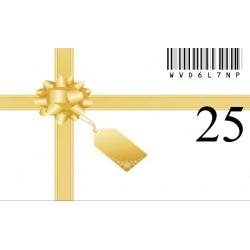Carte Cadeau 25