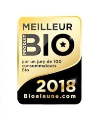 Élue meilleur produit bio 2018 par le Jury de Consommateurs Bioalaune