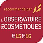 cosmétique naturel récompensé par l'observatoire des cosmétiques